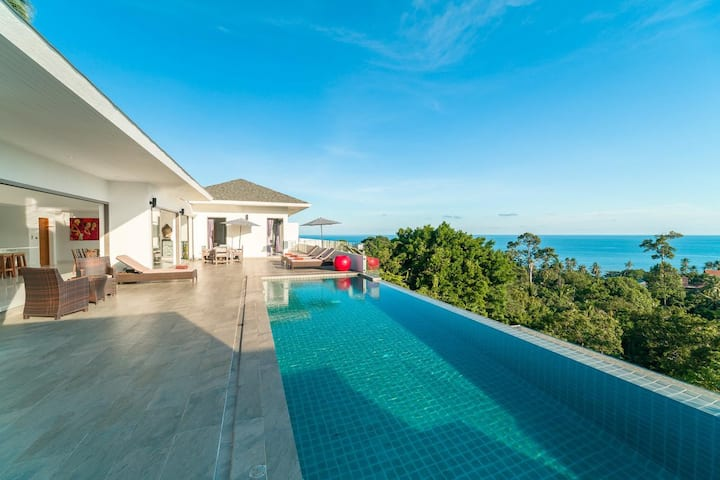 【lamai-1 3BR villa】Daily disinfection--13m pool