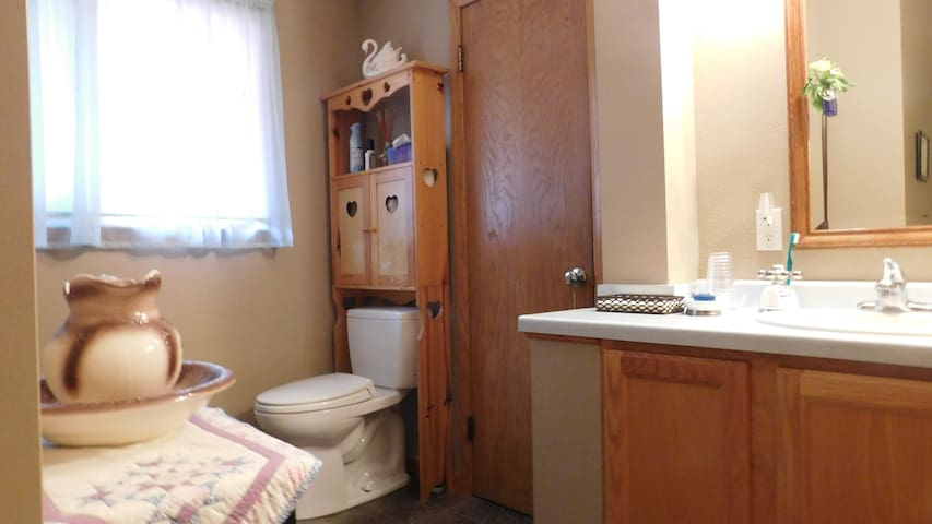 This is the main bathroom located near the bedrooms.