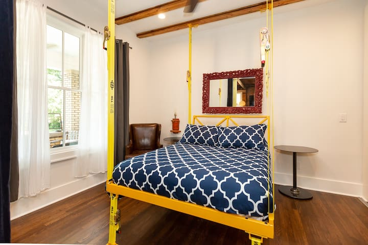 Custom full sized suspended guest bed