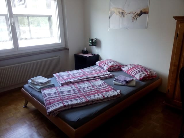 room in quiet area close to city (10 min.busride) - Lucerne - Apartment