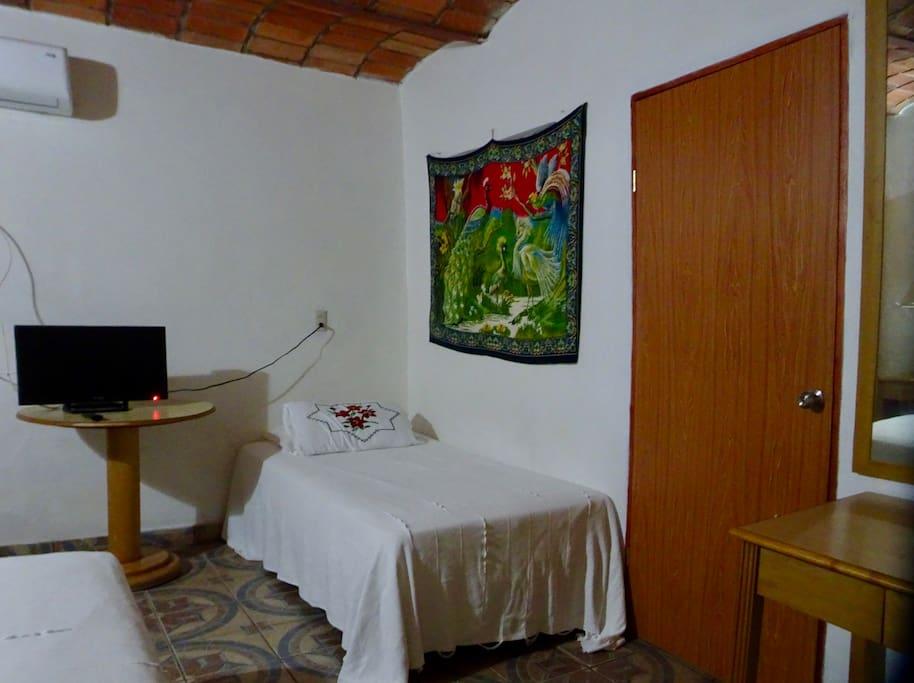 Single Bed in same room