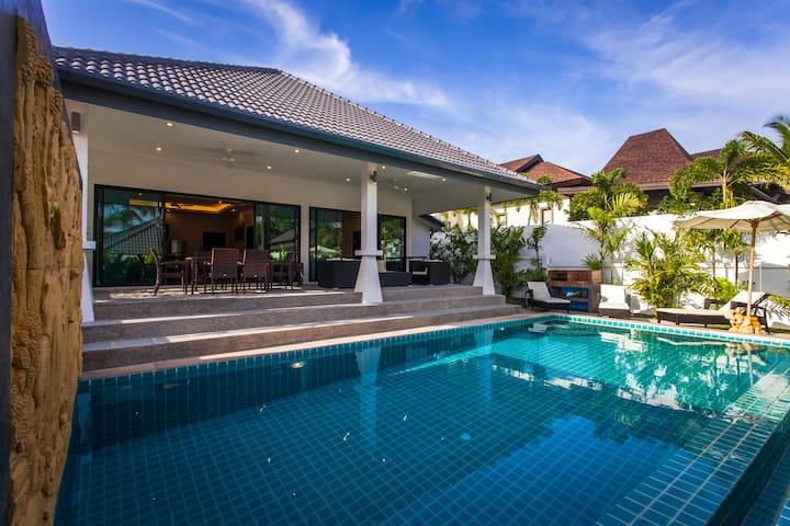 villa 2 chambre avec grande piscine