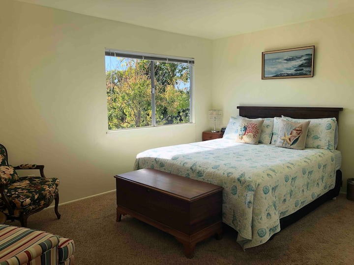 Relaxing California King Bedroom with Garden View