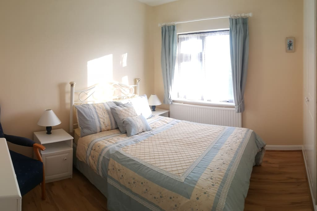Master bedroom, big and bright with double wardrobe.