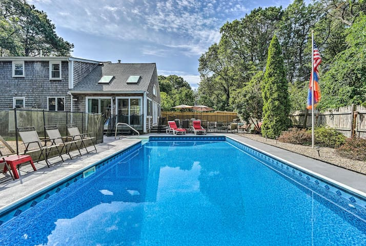 Mashpee Home w/Pool & Game Room