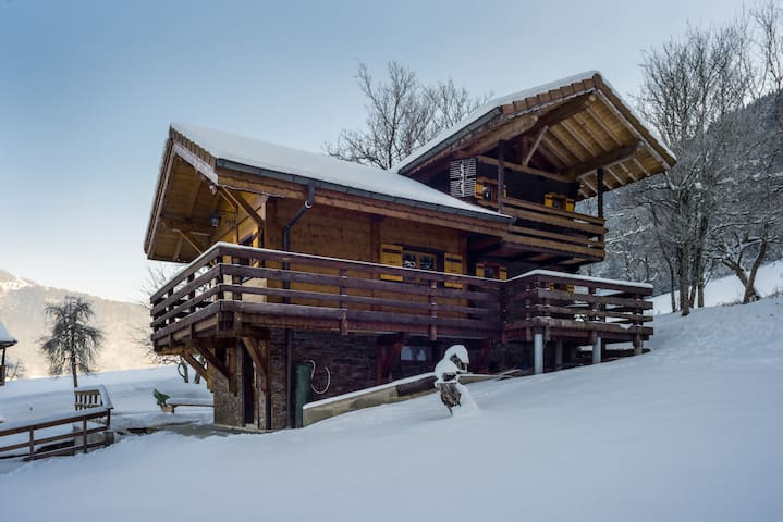 Cosy Chalet, resting, close ski station - La Baume