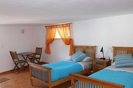 Large twin room with tea and coffee making facilities