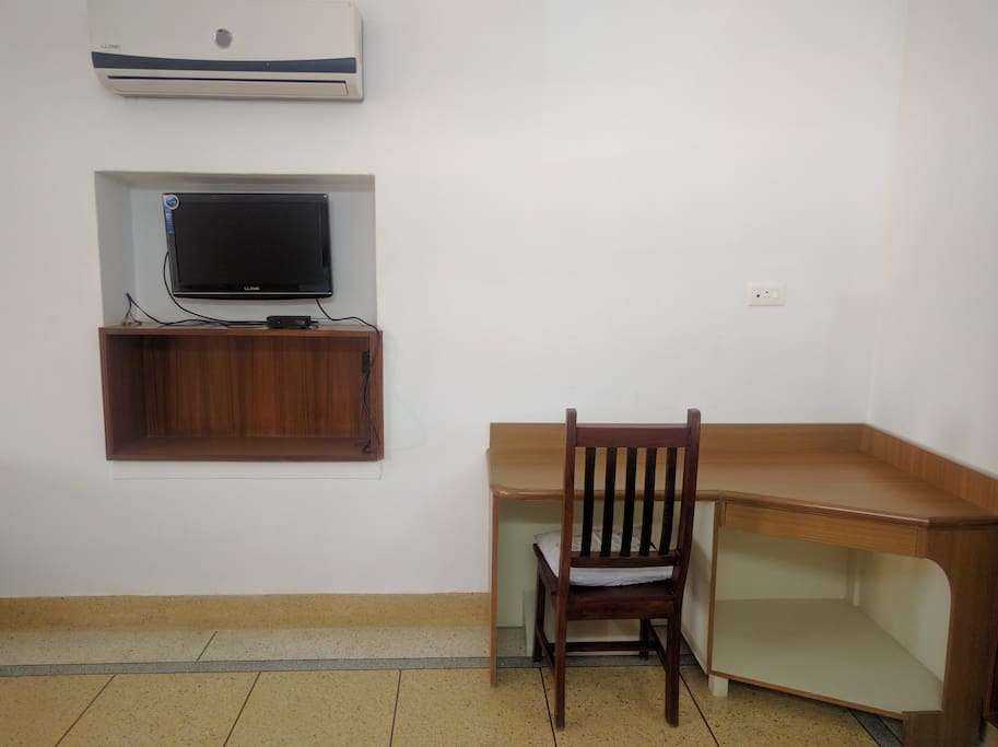 The sitting area in one of the rooms