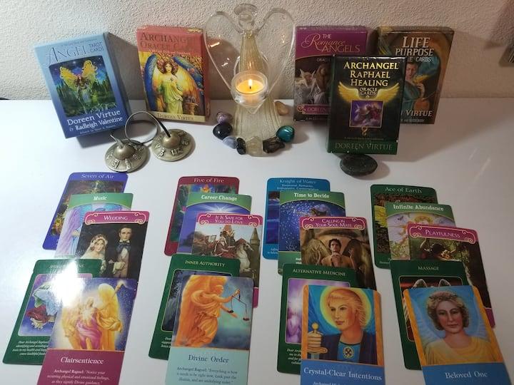 Some of the beautiful angel card decks