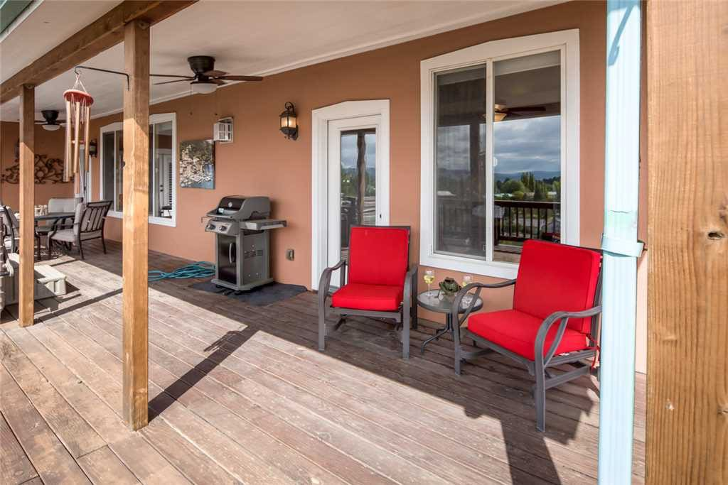 The deck is perfect for entertaining and relaxing. Grab a cup of coffee in the morning or a refreshing cool beverage in the evening.
