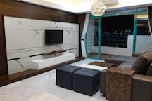 Cozy Living Room with TV and Balcony to enjoy TV and Internet