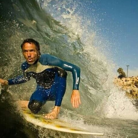 Local Johnny surfing it up