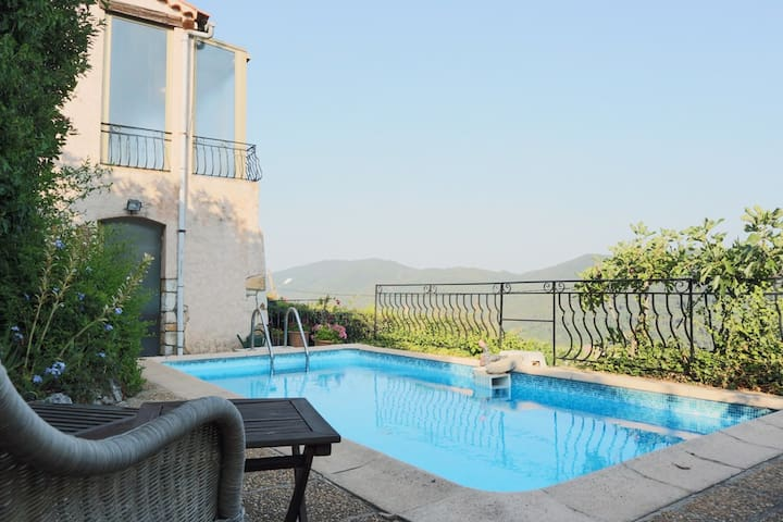 Authentic family villa with pool - Bargemon - Villa