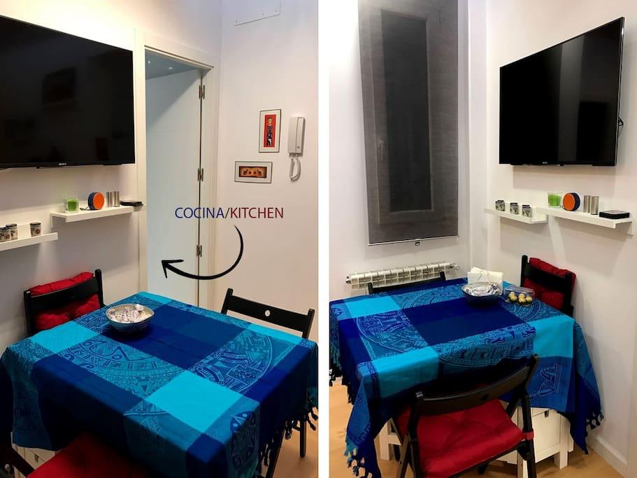 Salón/comedor con acceso directo a la cocina.