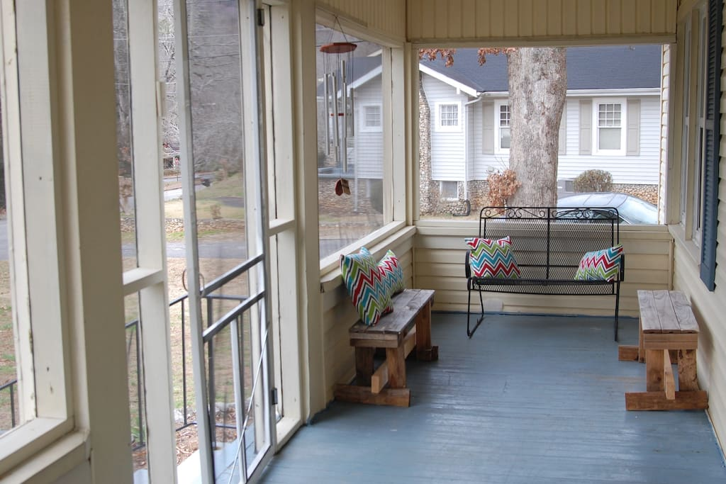 Enjoy the sunshine on our screened in porch.