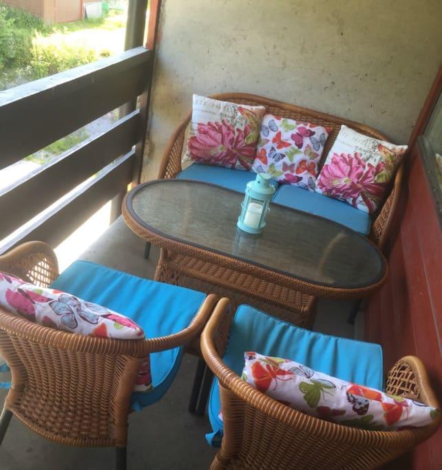 Koselig og privat terrasse