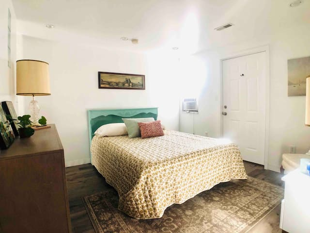 When you rent The Apartment at AYRHAUS, you get to sleep here after you come in from gazing at countless stars in the country sky.