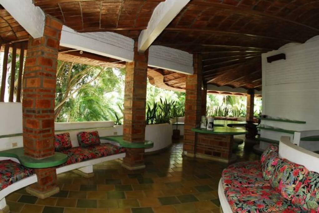 living area facing the gardens