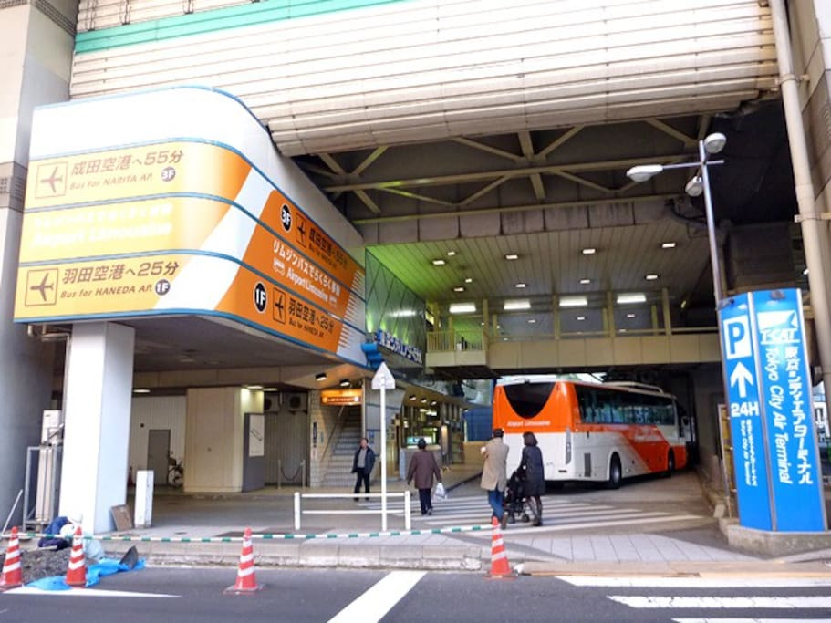 T-CAT is connected  Suitengumae sta. Easy access from Narita & Haneda airports.