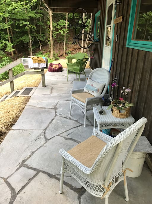 Beautiful new Blue Stone patio installed July 2017