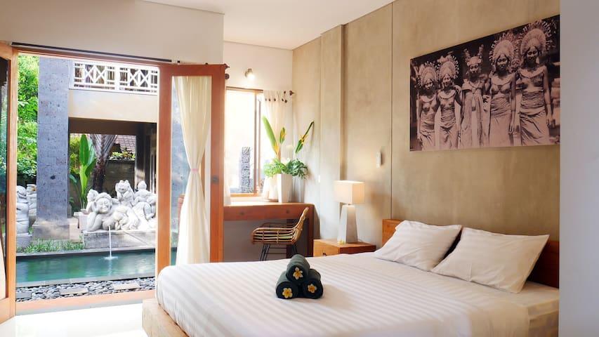 Ubud Homestay with Pool & AC - Room #3