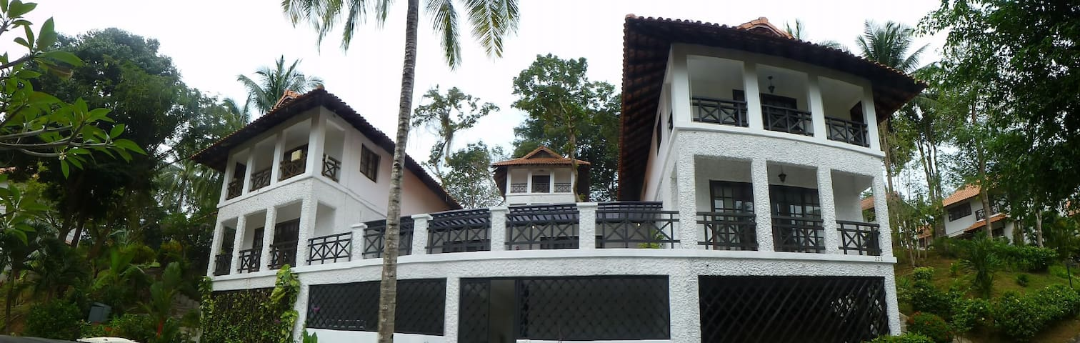 Two story three Bed villa with a Singapore skyline