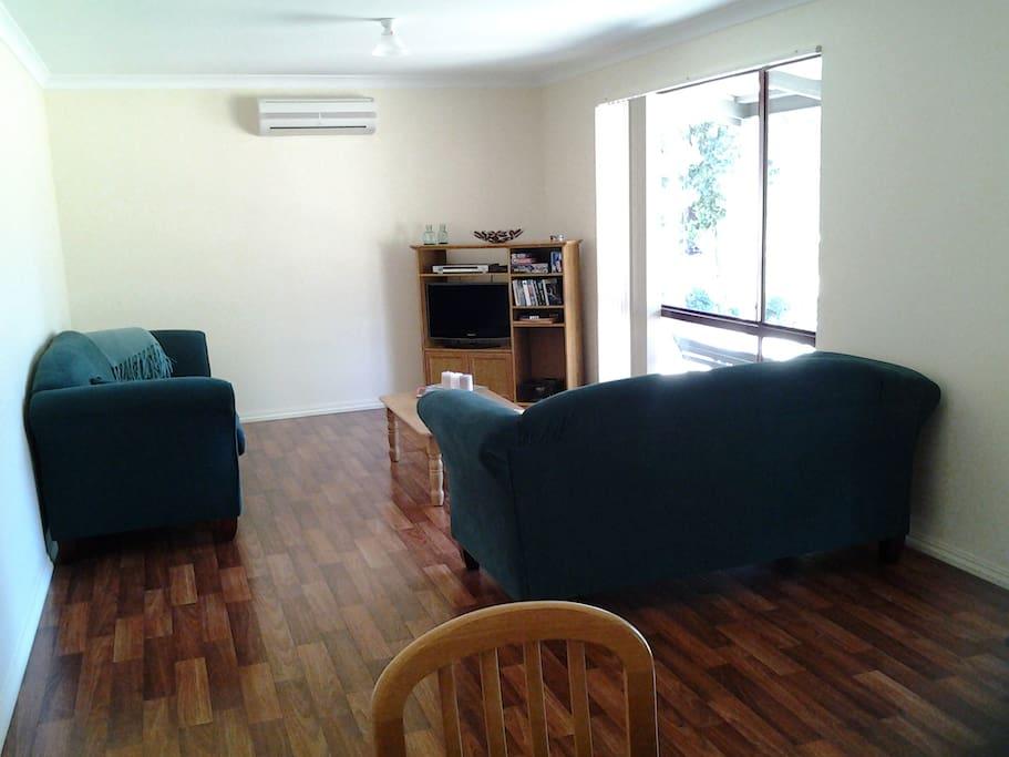 Spacious lounge area.