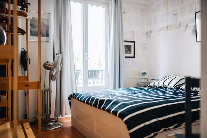Cozy Private Room in Paris' 19th arrondissement
