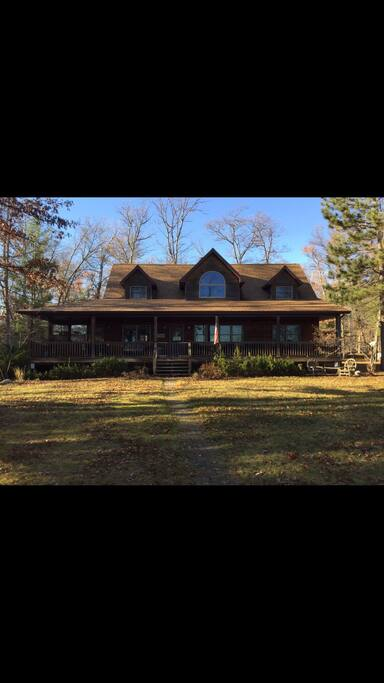 Front of home,  no neighbors on either side within sight! Very private! Wake up to the sounds of nature and the lake!