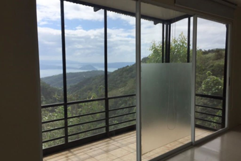 The home faces taal and you have a balcony to see all the great views
