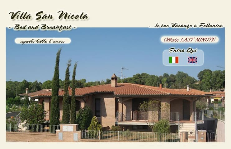 VILLA SAN NICOLA B&B follonica - Follonica - Bed & Breakfast