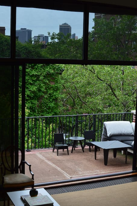 View onto terrace