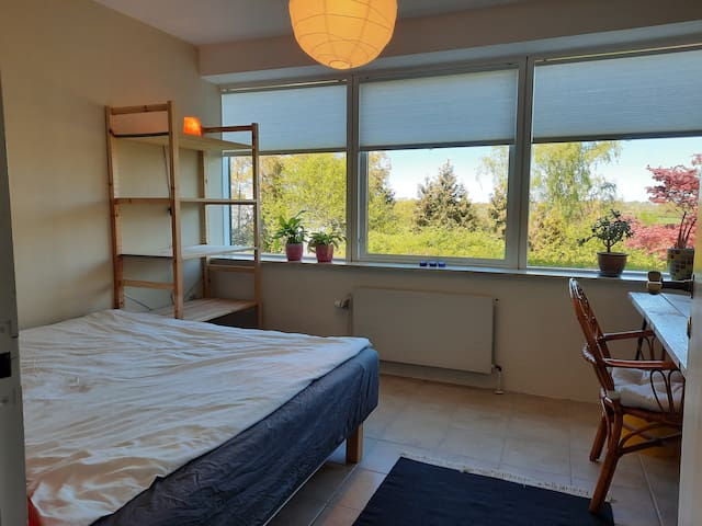 Large room with view, close to DTU and nature