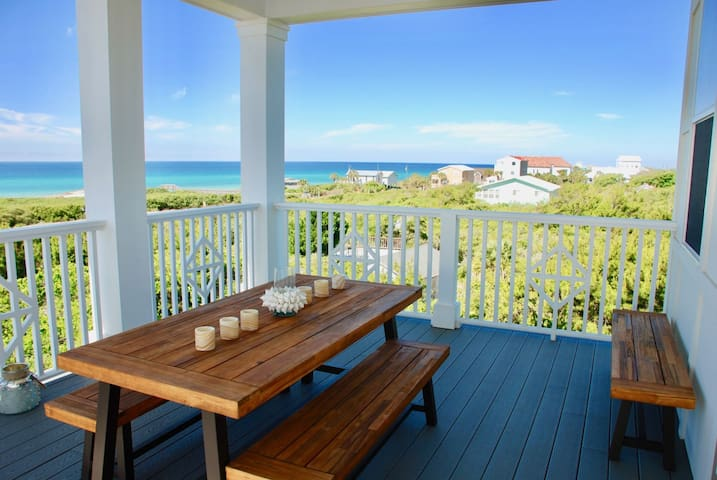 `Sol Serenity` 30A Inlet Beach Vacation Rental with Gulf Views + Free Bikes + 1 Free Beach Chair Set Up