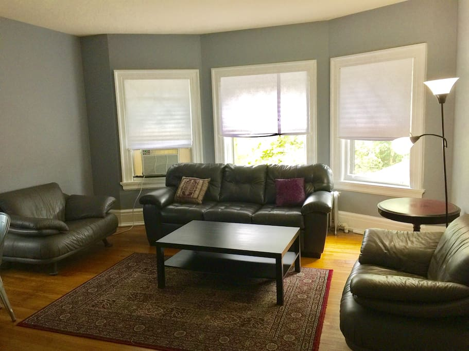"""Living room has air conditioner and 42"""" TV with Cable/Netflix/Hulu (not pictured)"""