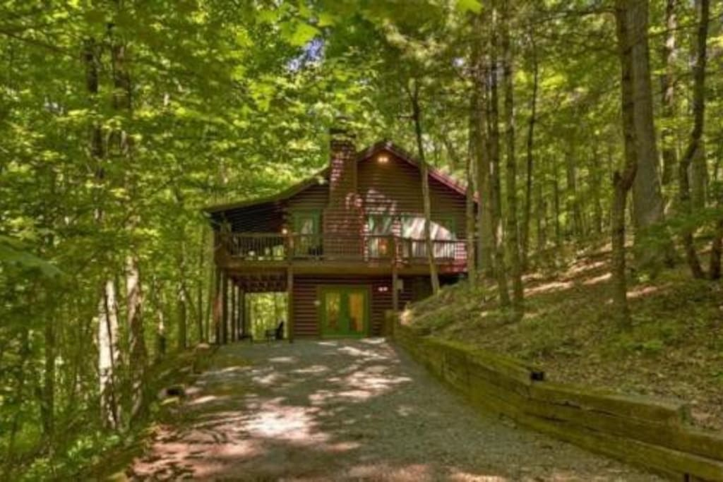 cozy cabin in the woods chalet in affitto a ellijay