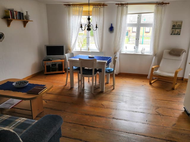 cozily holiday apartment with a small garden.