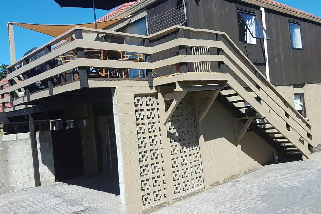 Upstairs apartment.