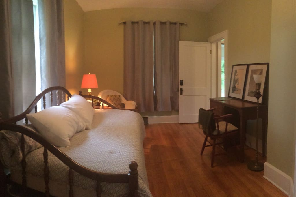 Green Room has trundle bed, desk, chair