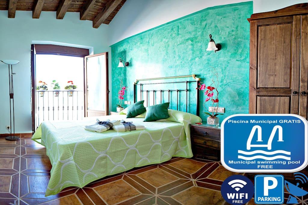 Habitación verde de Casa Rural Antonio