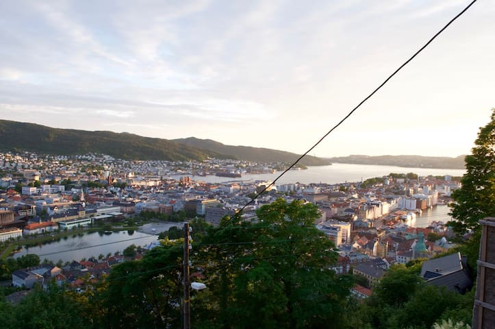Apartment with panoramic view of Bergen - Bergen - Daire