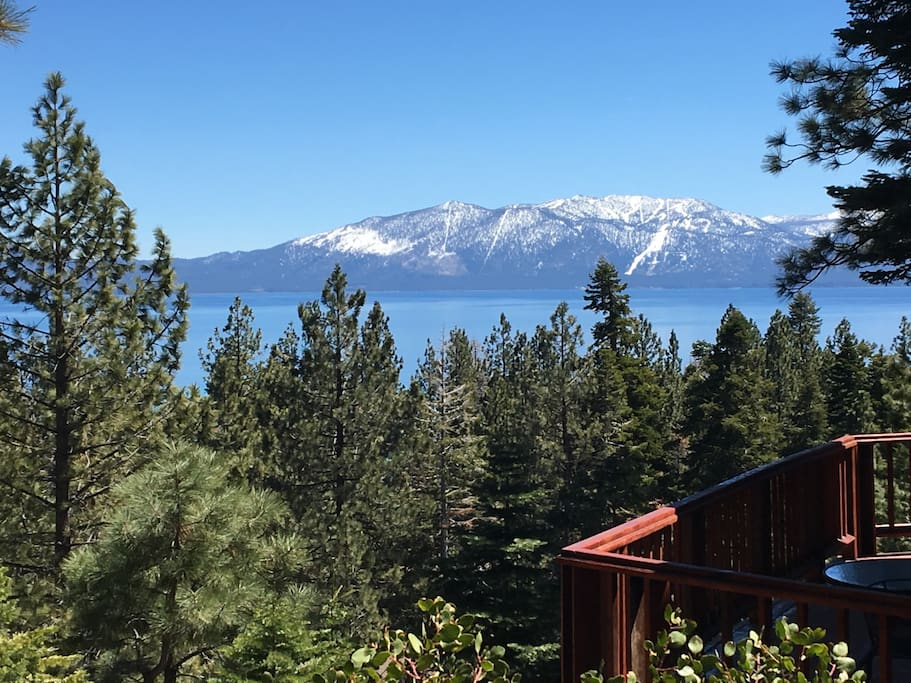 View from the deck to Heavenly Valley