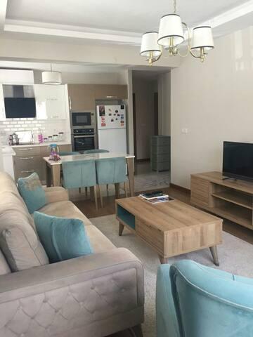 2 ROOMS + SALOON  CLEAN FLAT  AT CANKAYA BIRLIK
