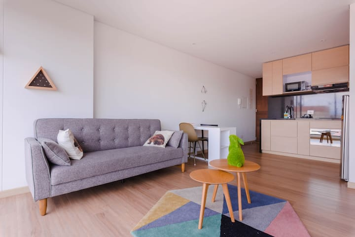 Loft style studio apartment modern, beautiful **3