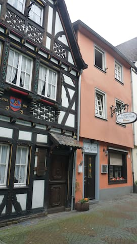 a romantic site in the old town of Linz on the Rhine