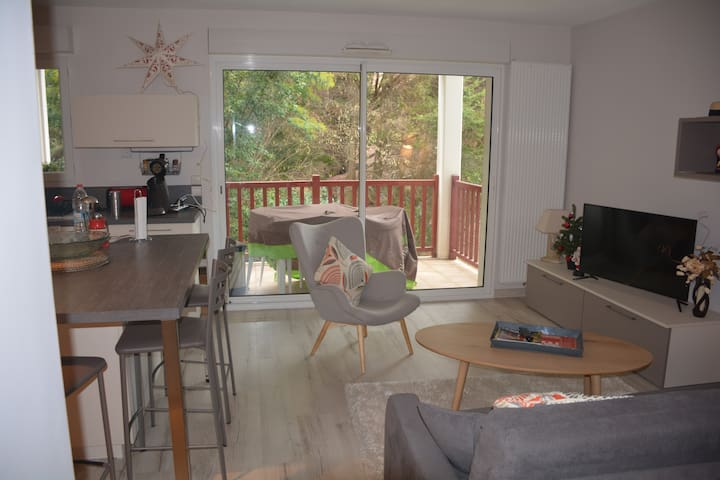 Luxueux Appart 2kms plages Anglet + terrasse - Anglet - Apartment