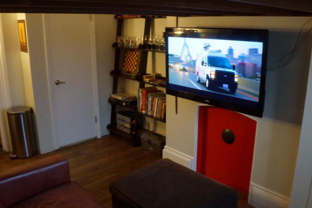 "46"" HDTV with HDMI hookups and local channels"