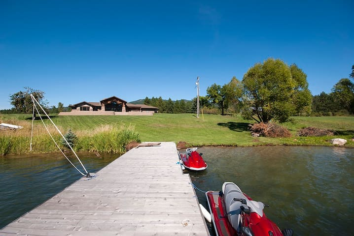Beautiful Timber Framed Waterfront Property, - Priest River - Dom