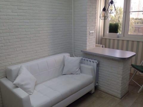 Светлая квартира со свежим ремонтом