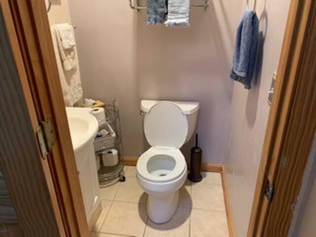 Bathroom.   Sorry, no bidet!!